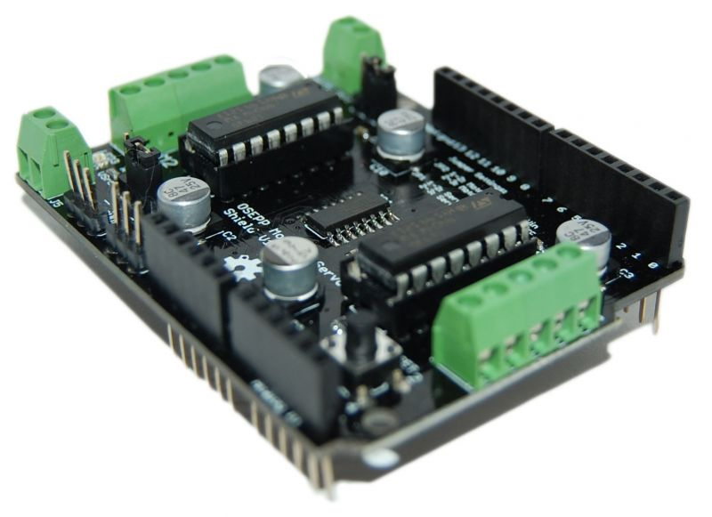Osepp arduino compatible products motor servo shield for Arduino servo motor shield